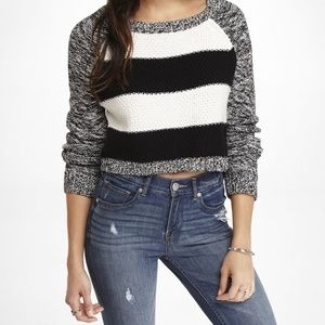 EXPRESS CROPPED KNIT SWEATER